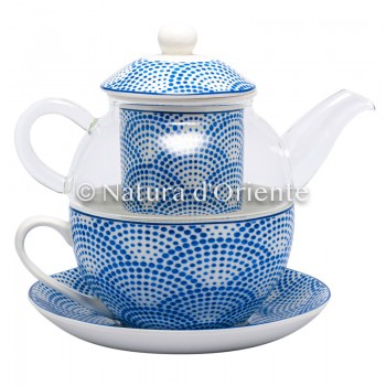 Crystal teapot and cup with...