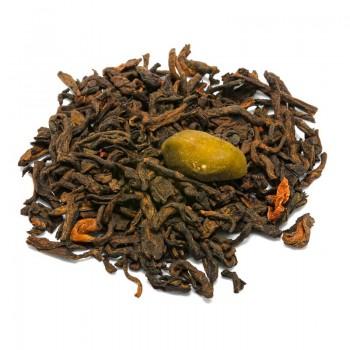 Pistachio pu erh tea