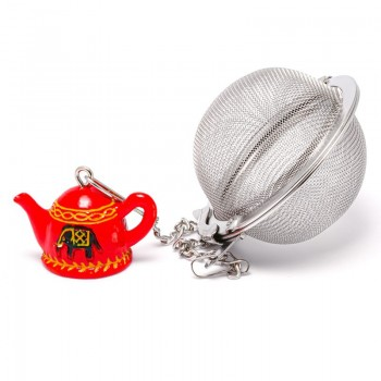 Cup infuser with red teapot