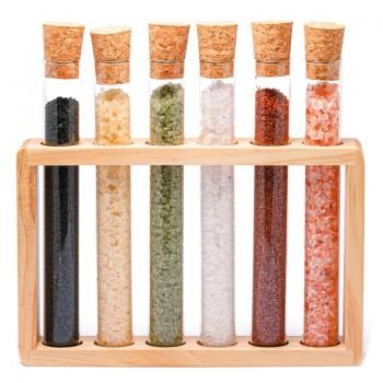 Set di sei fiale in vetro di sale mix
