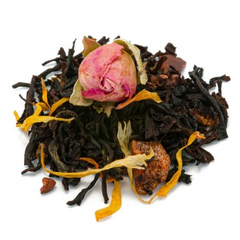 Black tea with chocolate...
