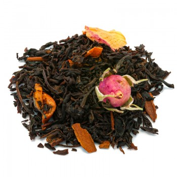 Black tea with almond apple...