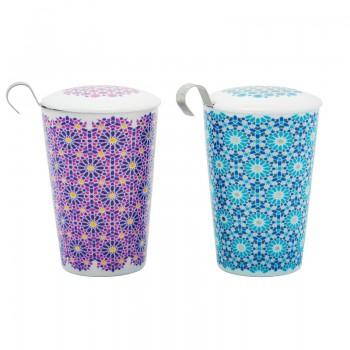 Mosaic porcelain cup