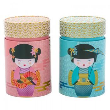 Round Geisha tea box
