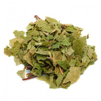 Birch in herbal tea-cut leaves