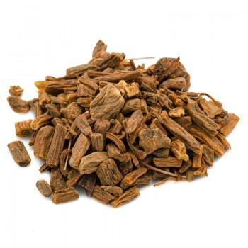 Valerian root herbal tea cut