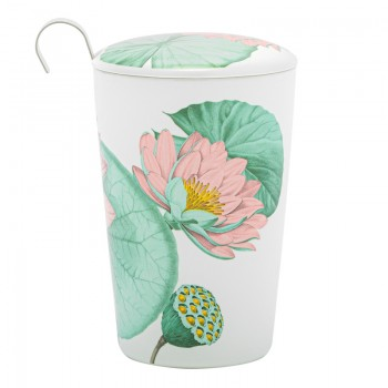Water lilies porcelain cup